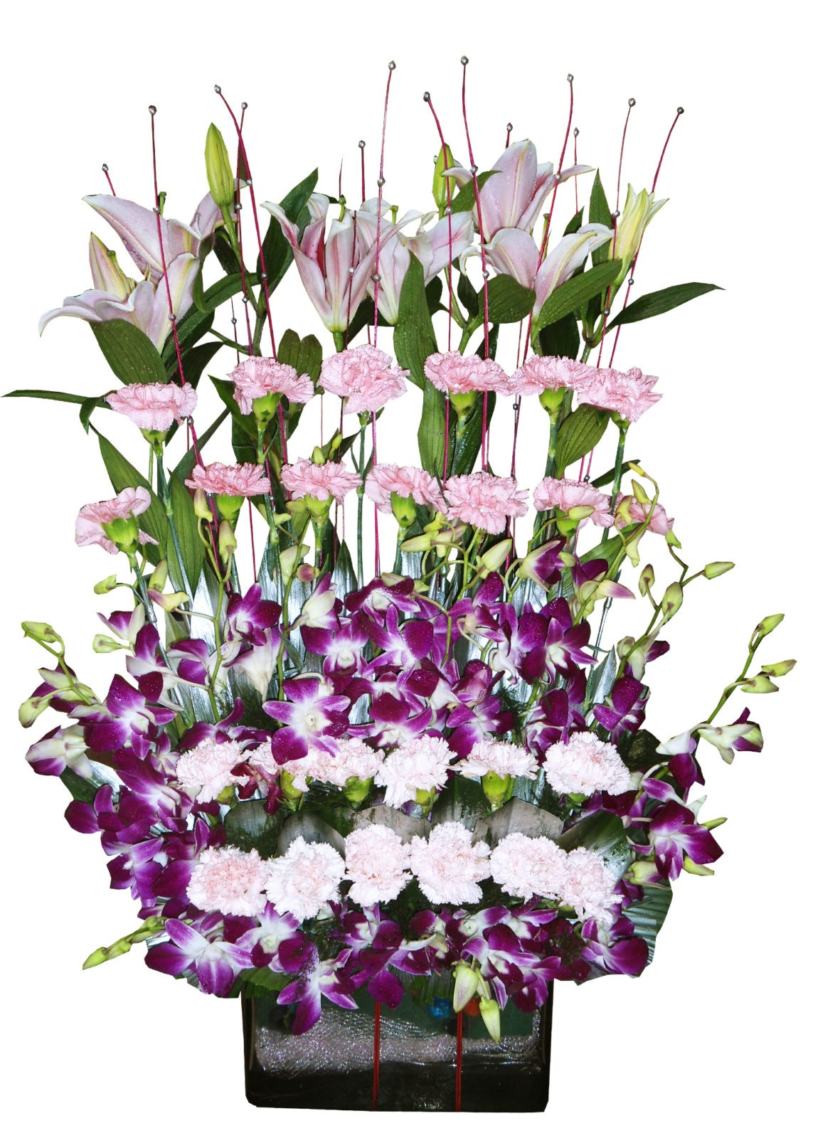Flower bouquet online send bunch of flowers shop in faridabad lovely pink izmirmasajfo