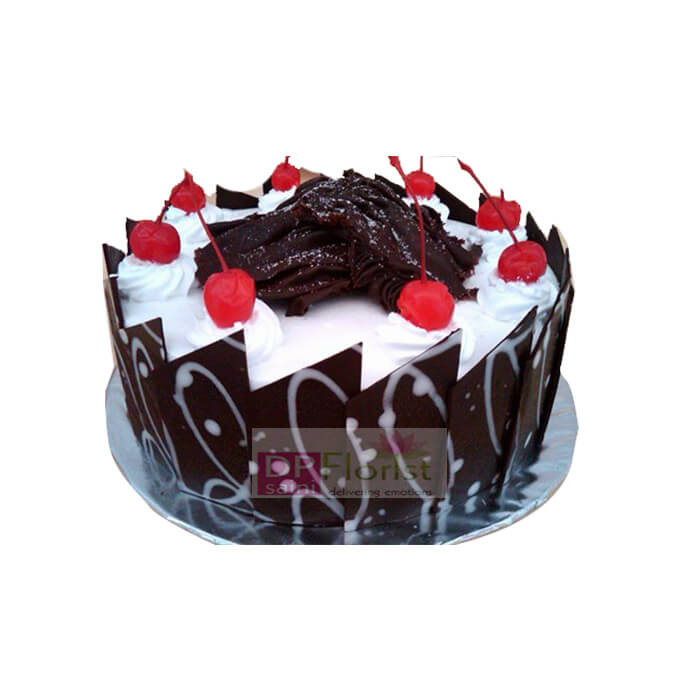 Half Kg Black Forest Eggless Cake - Dpsainiflorist