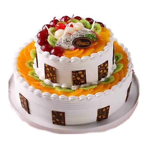 Strange 2 Tier Fruit Cake 2 5 Kg Dpsainiflorist Funny Birthday Cards Online Sheoxdamsfinfo