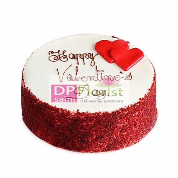 Half Kg Red Velvet Cake Only Faridabad